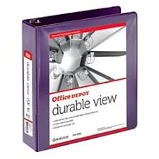 2in Binder Office Depot Nonstick Round Ring View Binder 2in Rings 100 Recycled Purple Od06620