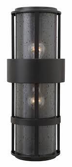 hinkley 1909sk saturn modern satin black outdoor wall light fixture loading zoom