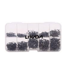 Lixada 600pcs <b>Fish Jig Hooks</b> with Hole <b>Fishing</b> Tackle Box <b>3# -12</b> ...