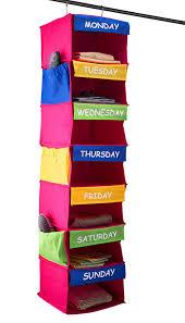 kids hanging closet organizer. Simple Closet Amazoncom Sagler Daily Activity Organizer Kids 7 Shelf Portable Closet  Hanging Great Solutions Home U0026 Kitchen To H