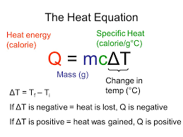 q mcΔt the heat equation specific heat calorie g c heat