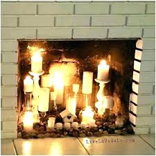fake fireplace candles s logs with home depot