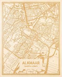 Plattegrond Alkmaar Centrum Hoodwood