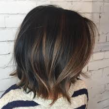 Hair Coloring Black Choppy Bob With