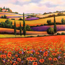 fields of poppies i painting t c chiu fields of poppies i art print