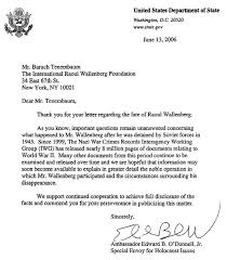 Letter From The Us Department Of State To The Irwf The