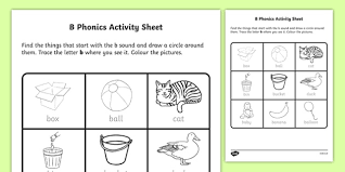 Looking for free reception worksheets? B Phonics Worksheet Worksheet Irish Worksheet