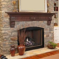 Handmade Cherry Modern Beam Fireplace Mantel By Custom Corners Fireplace Mantel