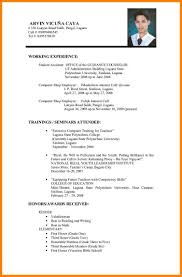 6 Example Resume For Martini Pink