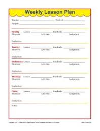Lesson Plans Formats Elementary Weekly Detailed Lesson Plan Template Elementary Education