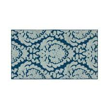 loop accent rug peacock blue mineral blue