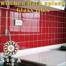 dubond multicolor kitchen back splash glass tiles size medium and large