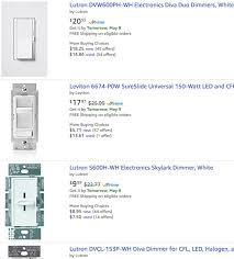 the image above to see a vast assortment of modern and older dimmer switches