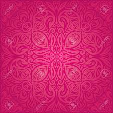 Mandala Design Background Red Floral Vector Pattern Wallpaper Mandala Design Background