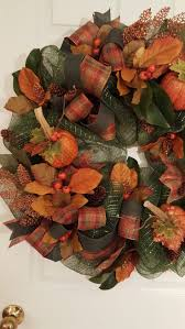 A deco mesh wreath for fall. Colorful and fun to make. by marlas