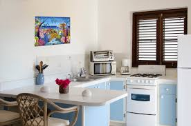 Studio Apartment Kitchen Villa Tropicale Almond Grove In Cole Bay Real Estate St