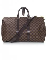 louis vuitton holdall. louis vuitton brown damier keepall 45 bandouliere holdall s