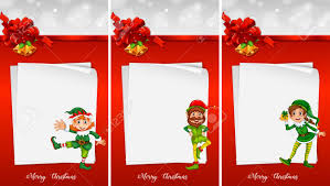 Christmas Note Template Christmas Note Template With Elf Illustration Royalty Free Cliparts