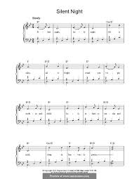 sheet music silent night silent night for piano by f x gruber sheet music on musicaneo