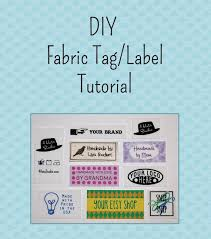 Diy Clothing Label Diy Pdf Tutorial Make Your Own Fabric Sew In Tags Clothing Labels