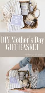 diy mother s day gift basket idea with free printable labels