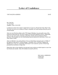 Condolence Letter Example 24 Condolence Sympathy Letter Samples Template Lab 15