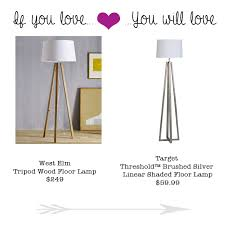 if you love the west elm tripod wood lamp you will love this 59 99 look a like