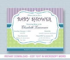 How To Create Invitations In Word Baby Shower Invitations Free Baby Shower Invitation