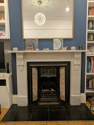 Retiling fireplace hearth & victorian inserts