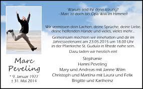 Gedenkseite Von Marc Peveling Bbv Trauer