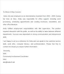 reference letter sample for employment reference letter for job resume reference letter sample