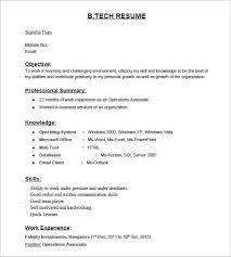 Resume Fresher Format Resume Template Sample