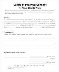Permission To Travel Letter Child Travel Consent Form Samples