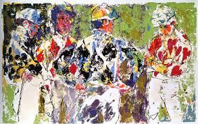 leroy neiman four jockeys painting for leroy neiman four jockeys is handmade art reion you can leroy neiman four jockeys painting on