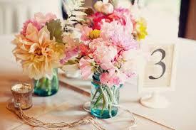 ... Beautiful Photos of Wedding Centerpieces with Flowers inside Mason Jars
