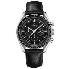men s omega sdmaster professional black leather strap watch o31133423001001 reeds jewelers