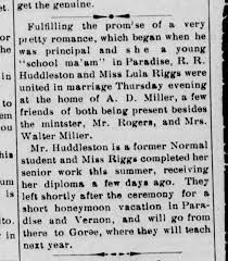 Marriage RR Huddleston and Lela Riggs - Newspapers.com