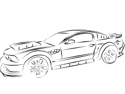 ford mustang coloring pages free