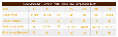 Nike Nhl Jersey Size Chart Size Chart Cheap Nfl Jerseys Buy Nfl Jerseys Online From