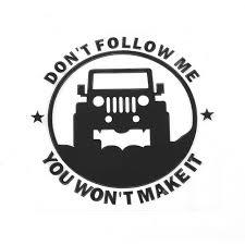 jeep wrangler logo. Plain Wrangler For Jeep Wrangler Renegade Compass Sticker Donu0027t Follow Me Auto  Logos For To Logo L