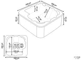 standard bathtub size jacuzzi ideas