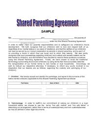 Custody Agreement Template Sample Custody Agreement Custody Agreement Child Custody