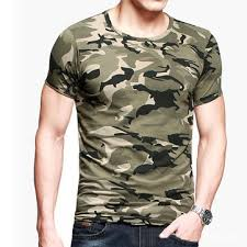 mens camouflage army green wicking tees tight sports fitness t shirts