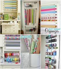 diy gift wrap organizer ideas