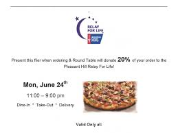 relay for life to host pizza fundraiser