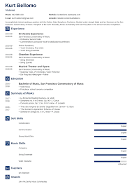 Sample Musician Resume Music Resume Samples And Complete Writing Guide 20 Examples