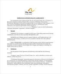 Employee Confidentiality Agreement 10+ Employee Confidentiality Agreement Templates - PDF | Free ...