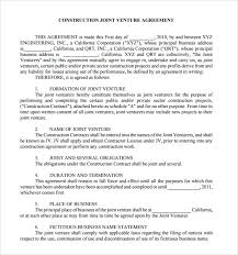 Sample Joint Venture Agreement - 10+ Documents In PDF, Word