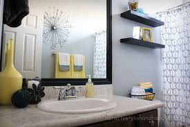 Best Image Of Black+white+gray+and+yellow+bathroom+decor Bathroom ...