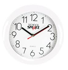 Wall clock for office Quartz School Smart Wall Clock 10 Inches White Dial And White Frame School Specialty Marketplace School Specialty School Smart Wall Clock 10 Inches White Dial And White Frame
